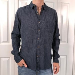 Converse x John Varvatos Blue White Stripe Shirt M